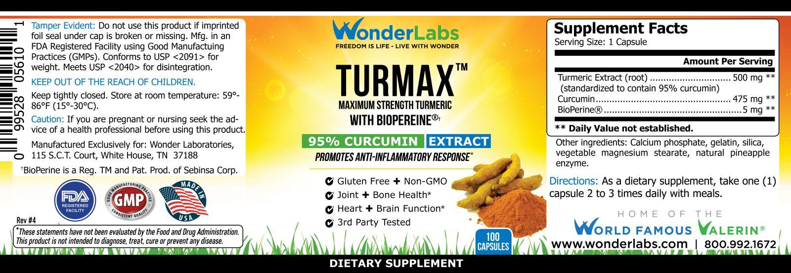 Turmax Product Label Item#0563
