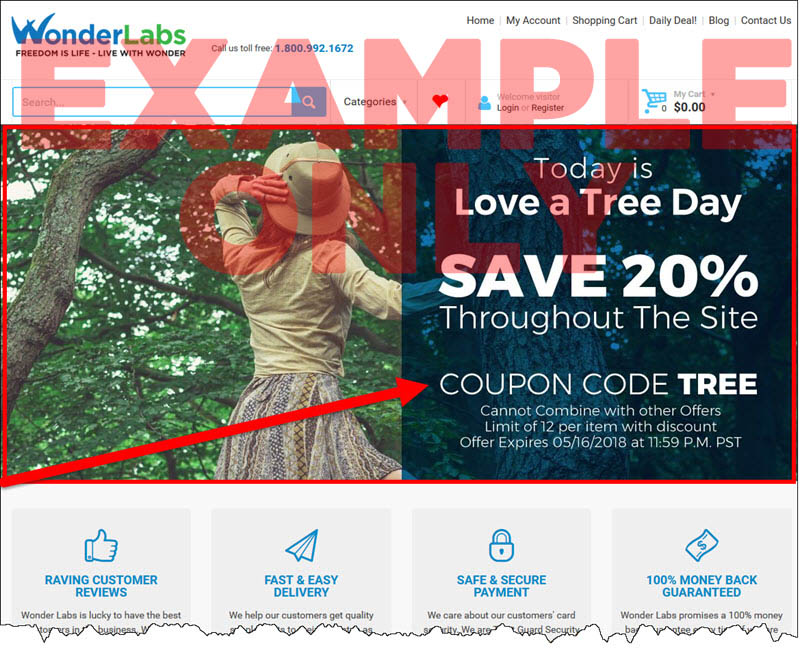 Daily Coupon Code Homepage Slider
